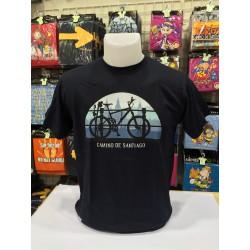 Camiseta bici camino de Santiago