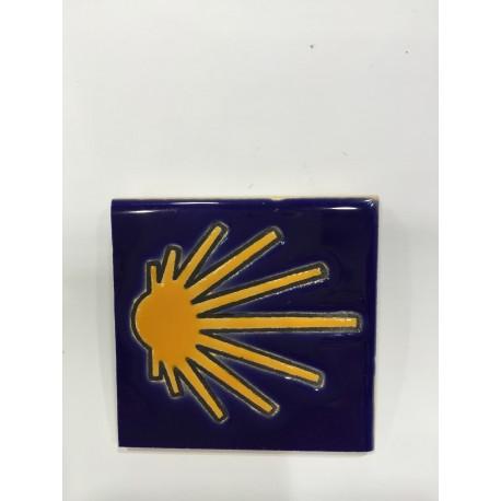 Imán azulejo Concha de Santiago