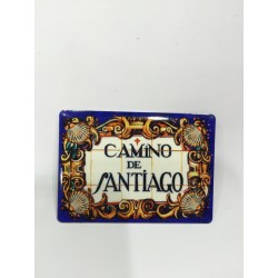 Imán metal Camino de Santiago